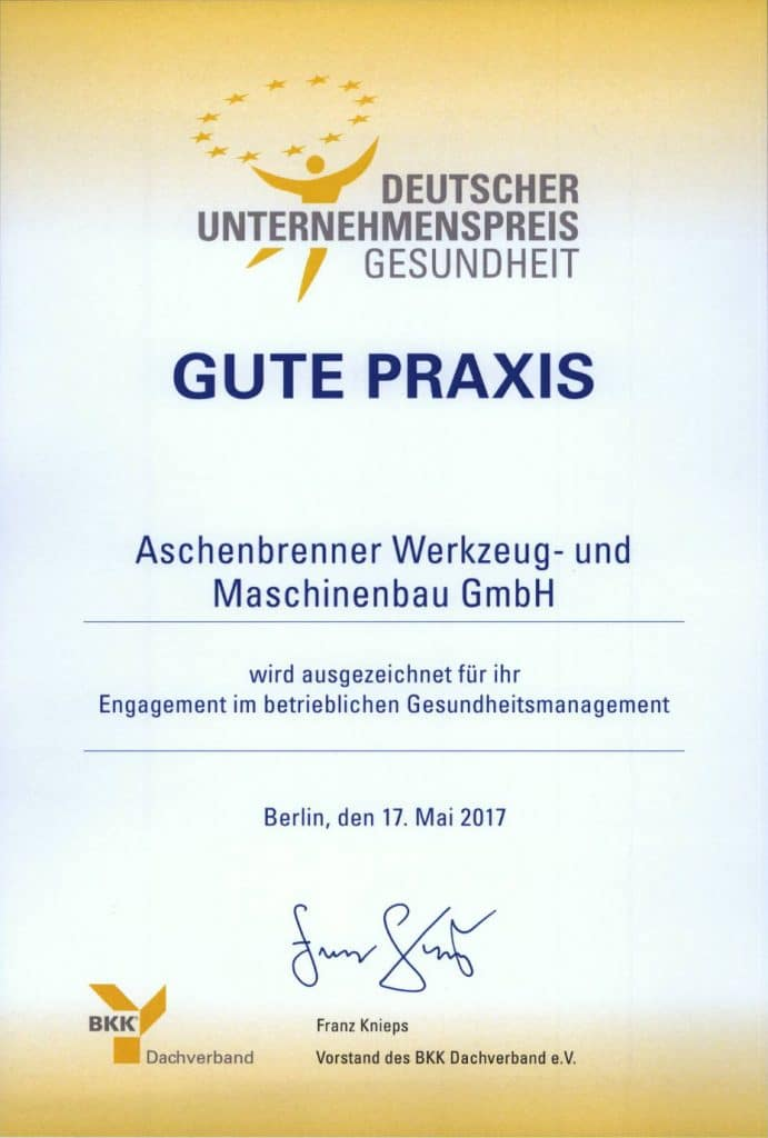 Deutscher Uternehmenspreis Gesundheit